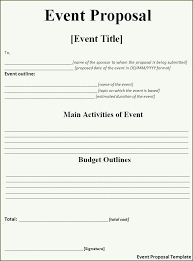 event planning proposal craft a perfect event proposal template