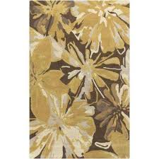 Hibiscus Rug Floral 7 X 9 Area Rugs Rugs The Home Depot