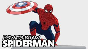 draw spiderman captain america civil war step