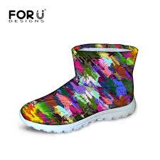 comfortable s boots australia aliexpress com buy novelty graffiti s winter boots for