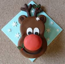 Rudolph The Red Nosed Reindeer Christmas Decorations Rudolph Red Nosed Reindeer Cake Tutorial Beesdiy Com