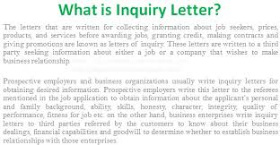 examples of inquiry letters for business what is inquiry letter in business communication business