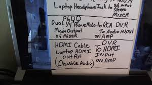 laptop to home theater rob u0027s karaoke system hooking a laptop to a mixer to an hdmi tv