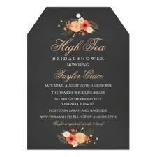 high tea invitations announcements zazzle