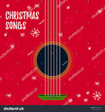 christmas songs vector illustration disc cover stock vector