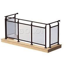 Interior Handrail Height Top Grade Interior Exterior Stair Frameless Balcony Glass Railing