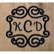 3 letter monogram swirly 3 letter monogram frame