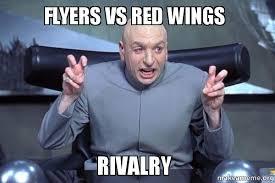 Flyers Meme - flyers vs red wings rivalry make a meme