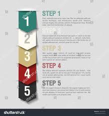 arrows steps design template fully editable stock vector 129273548