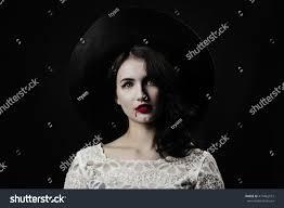 vampire woman halloween gothic portrait dripping stock photo
