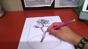 drawing beauty and the beast flower youtube