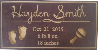 baby plaques personalized 25 cad personalized baby sign personalized signs baby gift