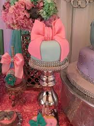 pink and silver baby shower teal and pink modern chic baby shower cake baby shower ideas