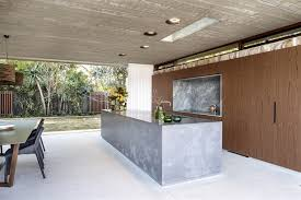 Grand Designs Kitchens Concrete Island Timber Kitchens Hunters Hill Textural House