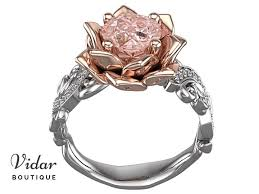lotus flower engagement ring lotus flower morganite engagement ring vidar boutique vidar