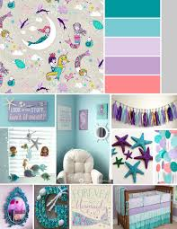 Hayley Nursery Bedding Set by Baby Bannon Nursery Inspiration Mermaid Nautical Theme