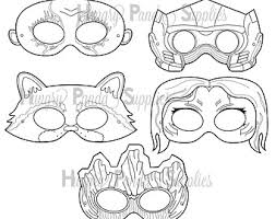 super kids printable masks hero mask villain mask character