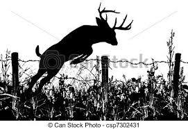 whitetail deer jumping clipart china cps