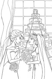 coloring page elsaxrapunzel by cancersyndromedits on deviantart