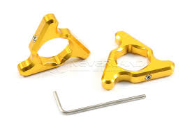 gold motorcycle 1pair 19mm gold motorcycle aluminum fork preload adjusters for