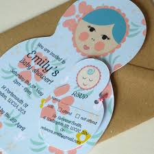 baby shower invitations with rsvp tags by ink pudding