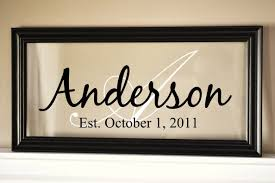 personalized pictures with names personalized family name sign picture frame 9x19 vinyl projects