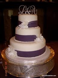 3 tier wedding cake wedding cakes 3 tier fondant wide purple ribbons 3 tier