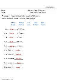 printables collective nouns worksheets for grade 2 ronleyba