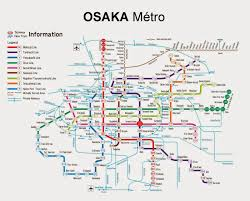 Osaka Subway Map by