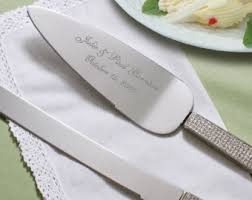 personalized wedding serving sets glitter cake server etsy
