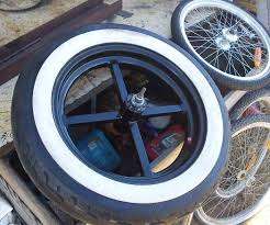 Double White Wall Motorcycle Tires Making Wide Bike Wheel Hubs And Joining Them To Car Rims 6 Steps
