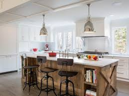 white kitchen wood island photo page hgtv