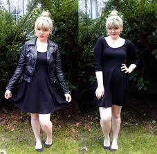 morgan m h u0026m black skater dress h u0026m black leather jacket