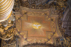 baldacchino by bernini vatican inside bernini s baldacchino rome italy stock image