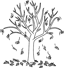 Fall Tree Coloring Page fall tree coloring pages getcoloringpages