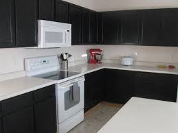 awesome black kitchen ideas with black cabinet and white table