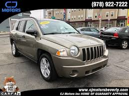 tan jeep compass used tan jeep compass beverly ma cj motors inc