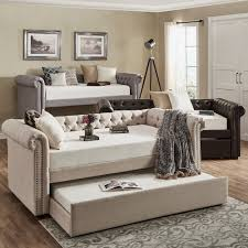 knightsbridge tufted scroll arm chesterfield daybed and trundle by