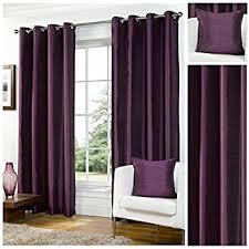 Curtains 90 Width 72 Drop Pair Of Purple Plum 90