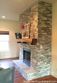 stone fireplace ideas mantels canada side wall paint stone