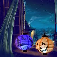 amazon com everkid halloween decorations paper lanterns with led