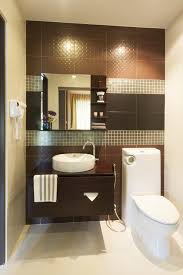 outstanding half bathroom designs with stone walls decoration and