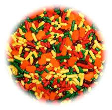 items similar to thanksgiving pumpkins edible sprinkles confetti
