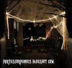 Halloween House Party Ideas by Parties For Pennies A Tale Of Halloweens Past