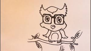 cute animal drawing tutorial cartoon art tutorial of cartoon owl