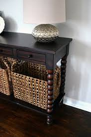 Entryway Table With Baskets Pewter Finished Foyer Table All In A Days Work Pinterest