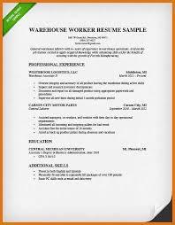 resume for warehouse strikingly design resume for warehouse