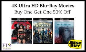 best buy 4k ultra hd blu ray movies buy one get one 50 off ftm