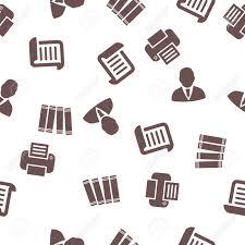 bureau d emploi bureau d emploi seamless glyphe motif répétitif le style est plat