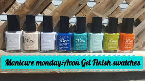 manicure monday 23 avon gel finish nail polish 8 new colours